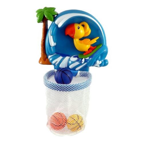 shoot & splash basketball hoop bathtub bath toy for kids with 3