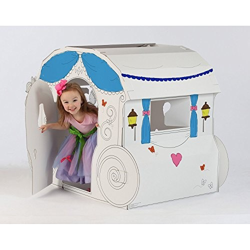 My Very Own House Coloring Playhouse, Princess Carriage : Colouring ...
