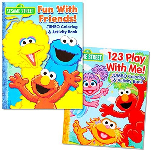 Sesame Street Coloring Book Set 2 Books Elmo And Cookie Monster