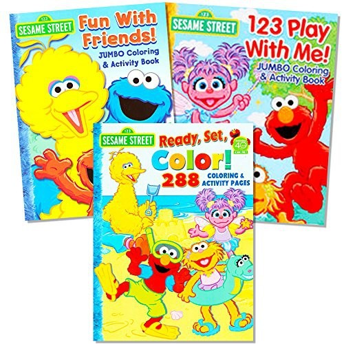 Sesame Street Coloring Book Super Set (3 Jumbo Books - 480 Pages ...
