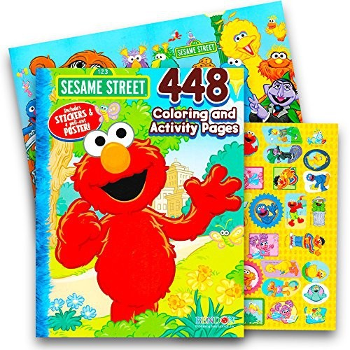 Sesame Street Elmo Coloring Book Jumbo 400 Pages Featuring Cookie Monster Big Bird And More