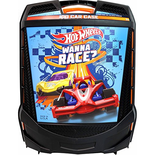 Hot Wheels 100 Car Rolling Storage Case With Retractable Handle