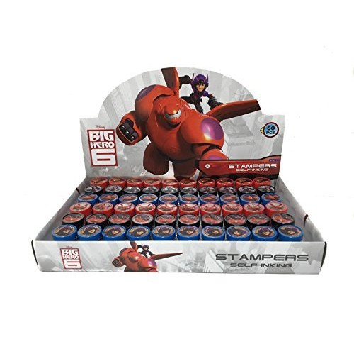 Disney Big Hero 6 Self Inking Stamps Birthday Party Favors 60 Piecescomplete Box Supplies
