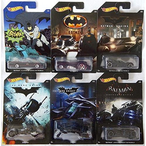 fb9f951b77683 Hot Wheels, 2015 Batman, Bundle Set of 6 Exclusive Die-Cast Vehicles
