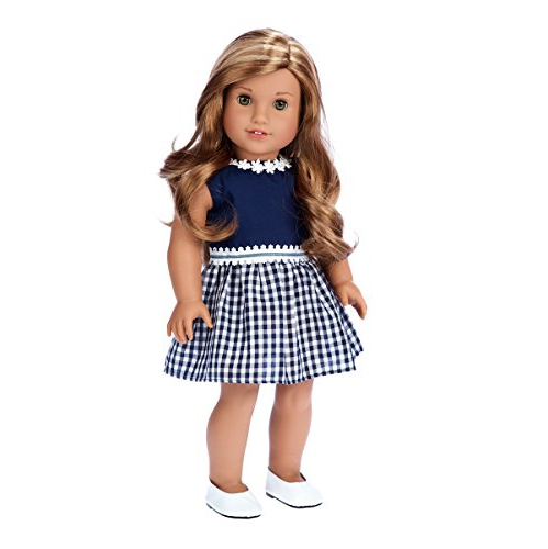 f77b10071bc Saturday Afternoon - Navy Blue Dress - 18 Inch Doll Clothes (Shoes Sold  Separately) (Doll Not Included) - Online Only