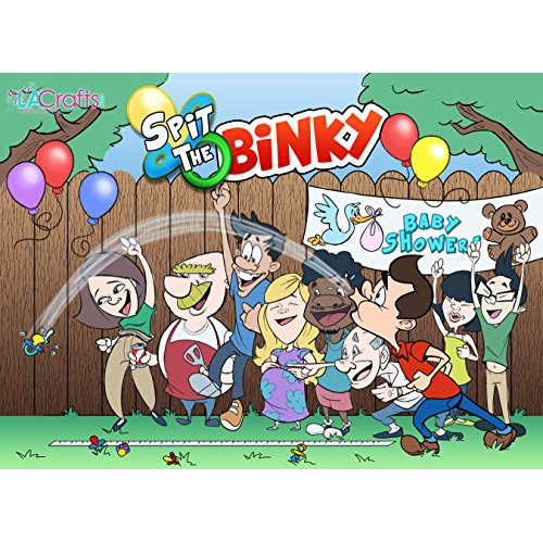 New! Spit The Binky! Fun! Baby Shower Game (Pink) - Online Only