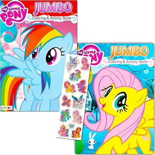 My Little Pony Coloring Book Super Set With Stickers (2 Jumbo Books ...
