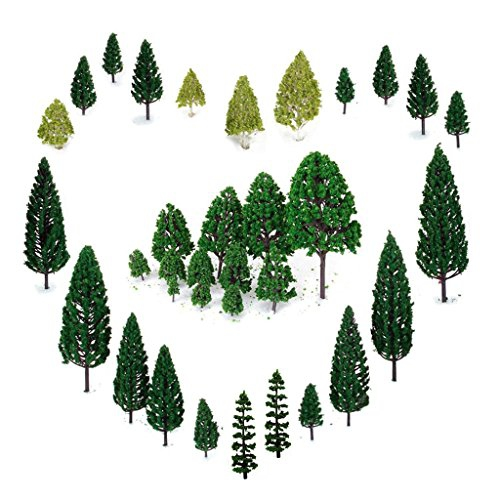 29Pcs Mixed Model Trees 1 5-6 Inch(4 -16 Cm), Orgmemory Ho Scale Trees,  Diorama Models, Model Train Scenery, Architecture