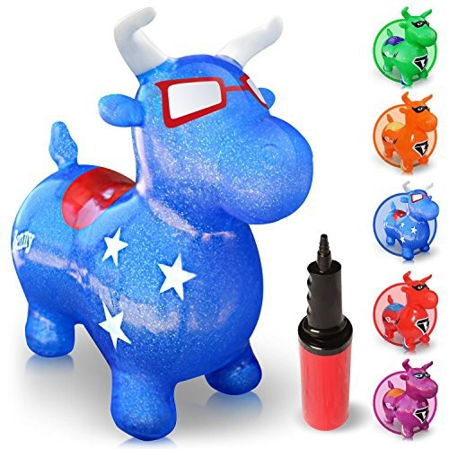00d05e420 Waliki Toys Bouncy Horse Benny The Jumping Bull (Inflatable Animal ...