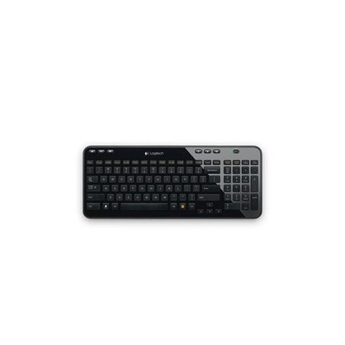 LOGITECH K360 WIRELESS USB KEYBOARD, DESKTOP KEYBOARD (GLOSSY BLACK) 920-004088