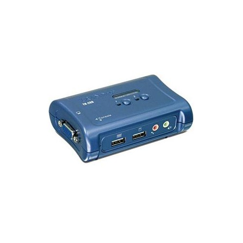 TRENDNET TK-209K 2-PORT USB KVM SWITCH KIT W/ AUDIO (INCLUDES 2X KVM CABLES)