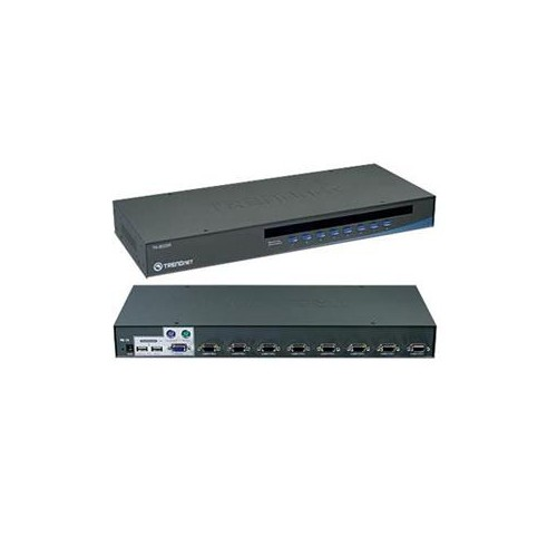TRENDNET TK-803R 8-PORT USB+PS/2 RACK MOUNT KVM SWITCH