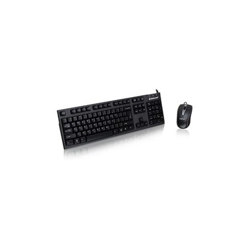 IOGEAR KEYBOARD & MOUSE USB CABLE KEYBOARD USB CABLE MOUSE OPTICAL 800 DPI (PC, MAC) GKM513