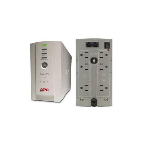 APC UPS BK500 BACK-UPS CS 500 120V 500VA/300W 6 OUTLETS USB/SERIAL BEIGE RETAIL