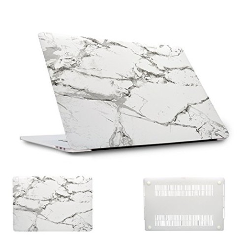 MacBook Pro 13 inch with Touch Bar Case A1706/A1708, Plastic Hard Case Shell Cover- White Marble