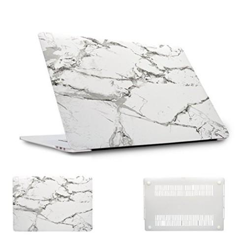 Étui rigide pour Apple MacBook Pro 13 po avec barre tactile, Marbre blanc (A1706/A1708)