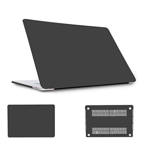 MacBook Pro 13 inch with Touch Bar Case A1706/A1708, Plastic Hard Case Shell Cover- Black