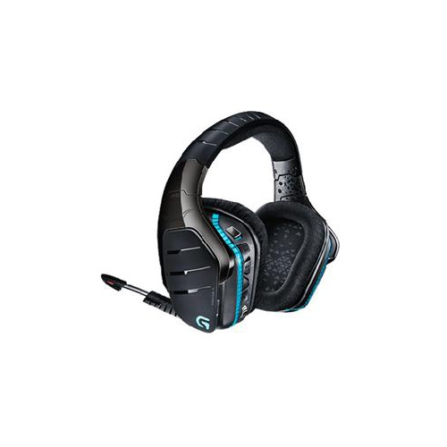 LOGITECH G933 ARTEMIS SPECTRUM RGB 7.1 SURROUND SOUND GAMING HEADSET, WIRELESS HEADPHONES AND MICROPHONE 981-000585