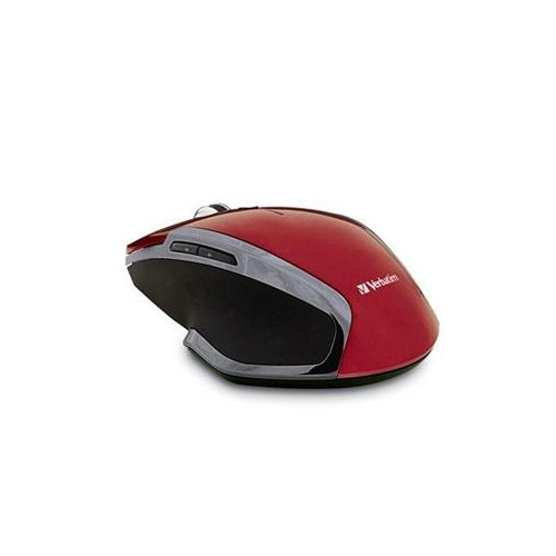 VERBATIM WIRELESS NOTEBOOK 6-BUTTON DELUXE BLUE LED MOUSE, RED 99018