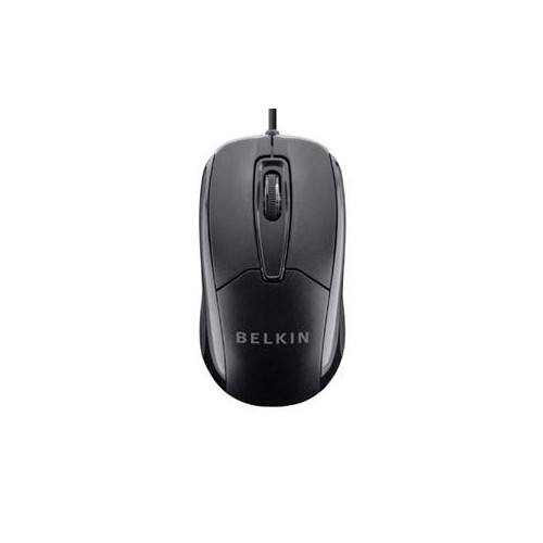 Wired Ergonomic USB Mouse Blk
