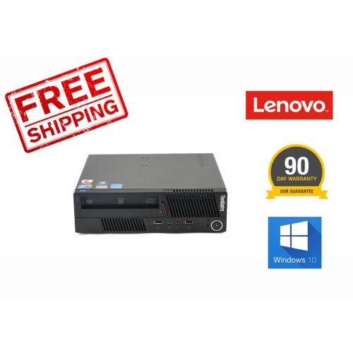 Lenovo M90p 3853 USFF Intel i5 3.2G, 4G, 250G, DVDRW, Windows 10 Professional, Refurbished, 90 Days Warranty