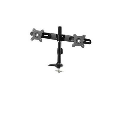 AMER NETWORKS A POLE/GROMMET BASED MOUNT THAT SUPPORTS UP TO TWO 24 LED/LCD MONITORS EACH WEIGHING UP TO 26.5 LBS. A STR
