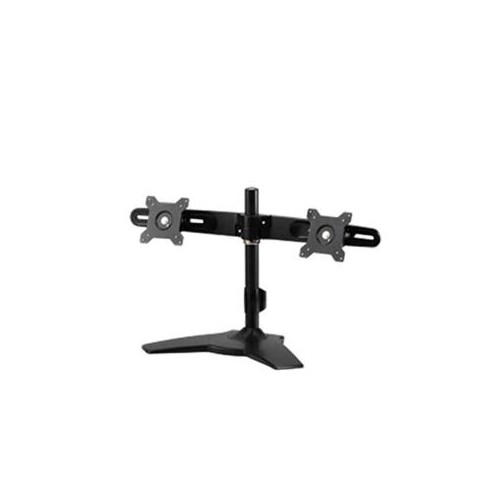 AMER NETWORKS A STAND BASED MOUNT THAT SUPPORTS UP TO TWO 24 LED/LCD MONITORS EACH WEIGHING UP TO 26.5 LBS. A STRONG STU
