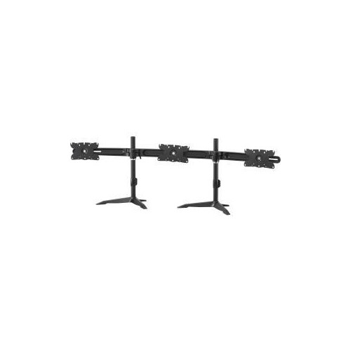 AMER NETWORKS TRIPLE MONITOR ULTRA SLIM STAND BASED DESK MOUNT. SUPPORTS 3 32 INCH LCD/LED MONITORS. VESA MOUNT 200MM X