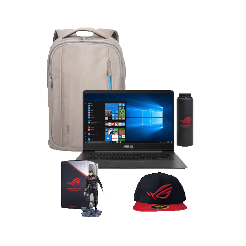 "ASUS UX430UA-Q52S-CB 14"" Laptop -Grey (Intel Core i5 8th Gen / 512GB SSD / 8GB / Windows 10 Home 64Bit) w/FREE Backpack Bundle"
