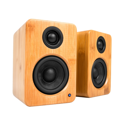 Kanto YU2 Powered Desktop Speakers, Bamboo