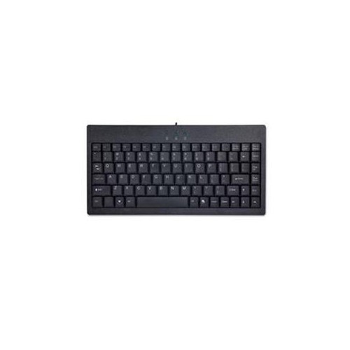 ADESSO INC. BLACK USB-PS/2 COMBO MINI KEYBOARD WITH LEDS FOR CAPS NUM AND SCROLL LOCK AKB-110B