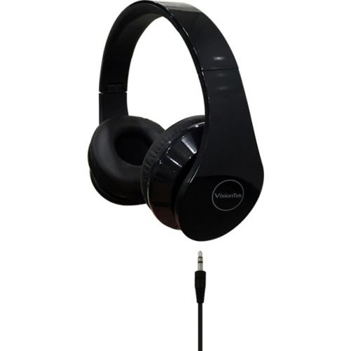 VISIONTEK PRODUCTS STEREO HEADPHONES, BLACK (900937)