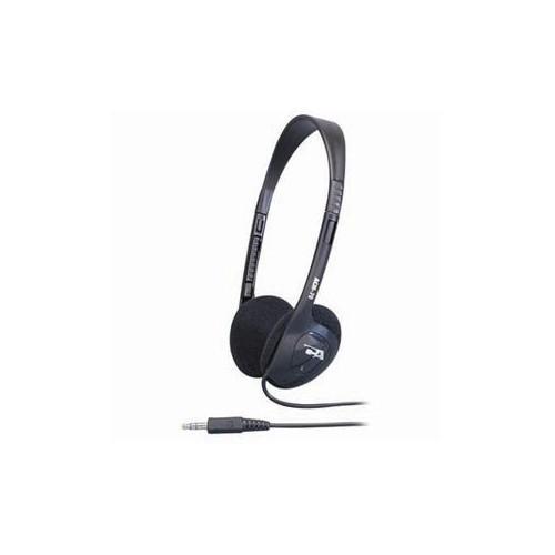 CYBER ACOUSTICS STEREO HEADPHONE SOFT FOAM EAR PADS ADJUST PLSTIC HEADBAND MOQ50 ACM-70B