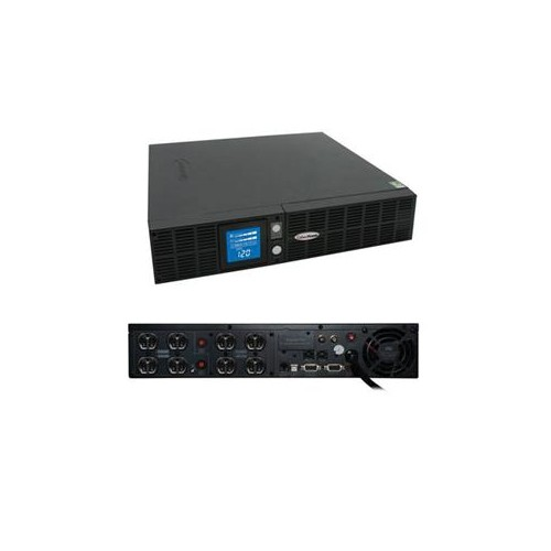 CYBERPOWER 1500VA PFC UPS SMART APP RM 2U 8OUT 15A LCD AVR RJ11/45/COAX 3YR OR1500PFCRT2U