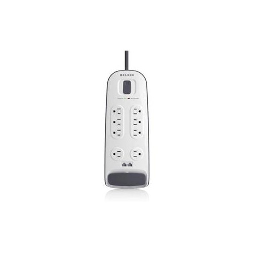 BELKIN 8OUTLET SURGE PROTECTOR W/6FT PWR CORD WITH TELEPHONE PROTECTION BV108200-06