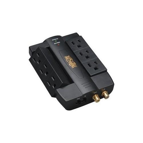 6 Outlet Surge 1200J Coax Tel