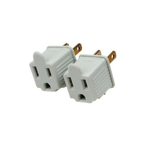 CYBERPOWER 2PK GROUNDING ADAPTER FITS 3-PRONG PLUGS INTO 2-PRONG MP1043WW