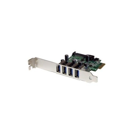 STARTECH ADD 4 EXTERNAL USB 3.0 PORTS TO A LOW PROFILE OR STANDARD COMPUTER THROUGH PCIEXPRESS-4 PORT PCI EXPRESS SUPERS