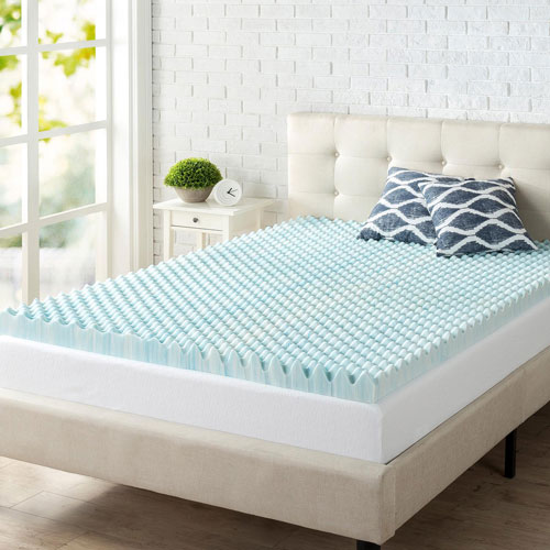 Zinus 3 Memory Foam Mattress Topper Queen Mattress Toppers