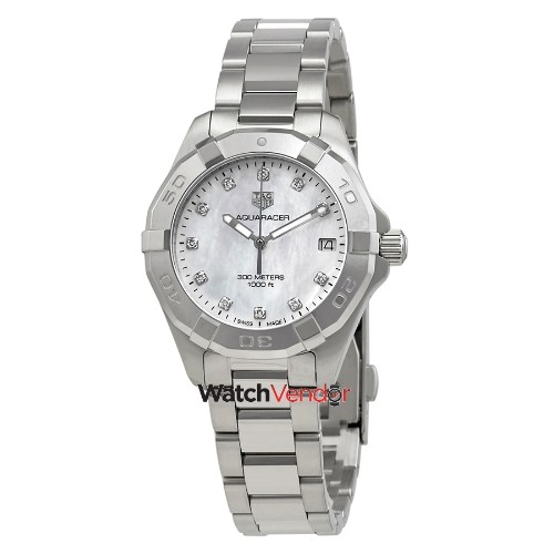 1e7680edc5f New! Tag Heuer Aquaracer Mother of Pearl Diamond Dial Ladies Watch  WBD1314.BA0740 - Online Only