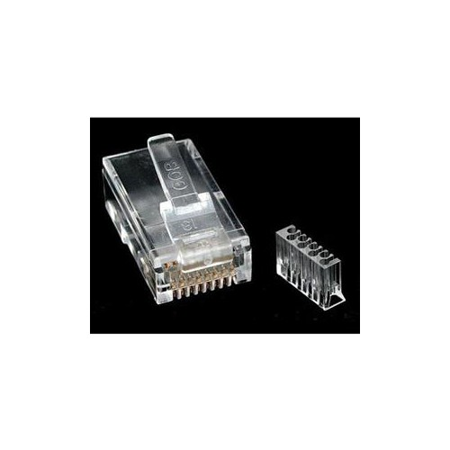 STARTECH ACCESSORY CRJ45C6SOL50 CAT6 RJ45 MODULAR PLUG FOR SOLID WIRE 50 PACK CLEAR RETAIL
