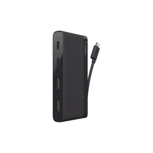 4Pt 3.0 USB C Mini Hub Black