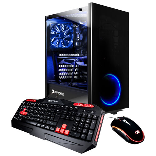 iBUYPOWER Gaming PC (Intel Core i7-8700/2TB HDD/120GB SSD/16GB RAM/AMD Radeon RX580) - Eng