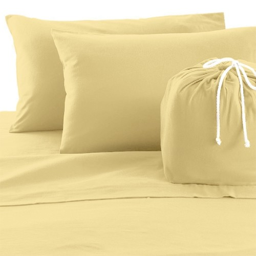 Solid Colour Cotton Flannel Sheet Set Mustard Full Best Buy Canada
