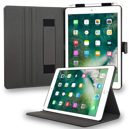 Navor Leather Case Of iPad Pro 10.5 with Kickstand Function Black