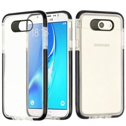 Insten Bumper Gel Case For Samsung Galaxy Halo/J7 (2017)/J7 Prime/J7 V, Clear/Black
