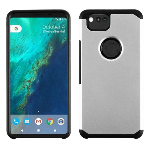Insten Astronoot Hard Hybrid Plastic TPU Case For Google Pixel 2, Silver/Black