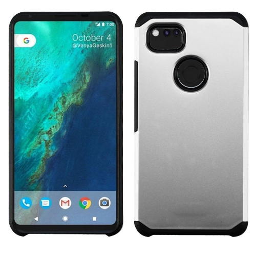Insten Astronoot Hard Hybrid Plastic TPU Cover Case For Google Pixel 2 XL, Silver/Black