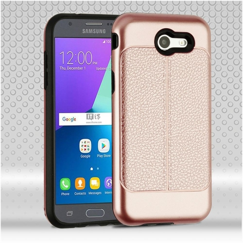 Insten Fitted Hard Shell Case for Samsung Galaxy Amp Prime - Rose Gold