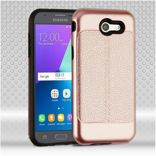 Insten Hard Case For Samsung Galaxy Amp Prime 2/Express Prime 2/J3 (2017), Rose Gold